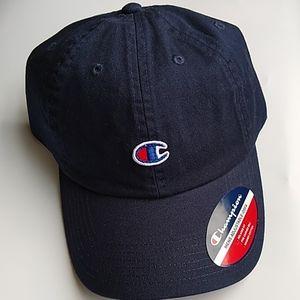 Champion Men's cap navy blue adjustable OS…